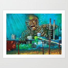 MILWAUKEE: It Came From Lake Michigan Art Print