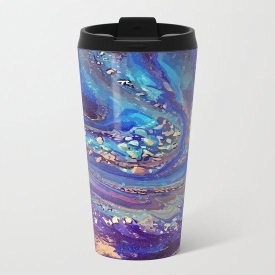 Iridescent Fantasy Abstract Metal Travel Mug