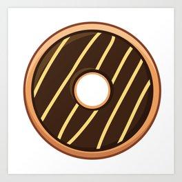 Delightful Choco Cheezy Doughnut / Donut Art Print