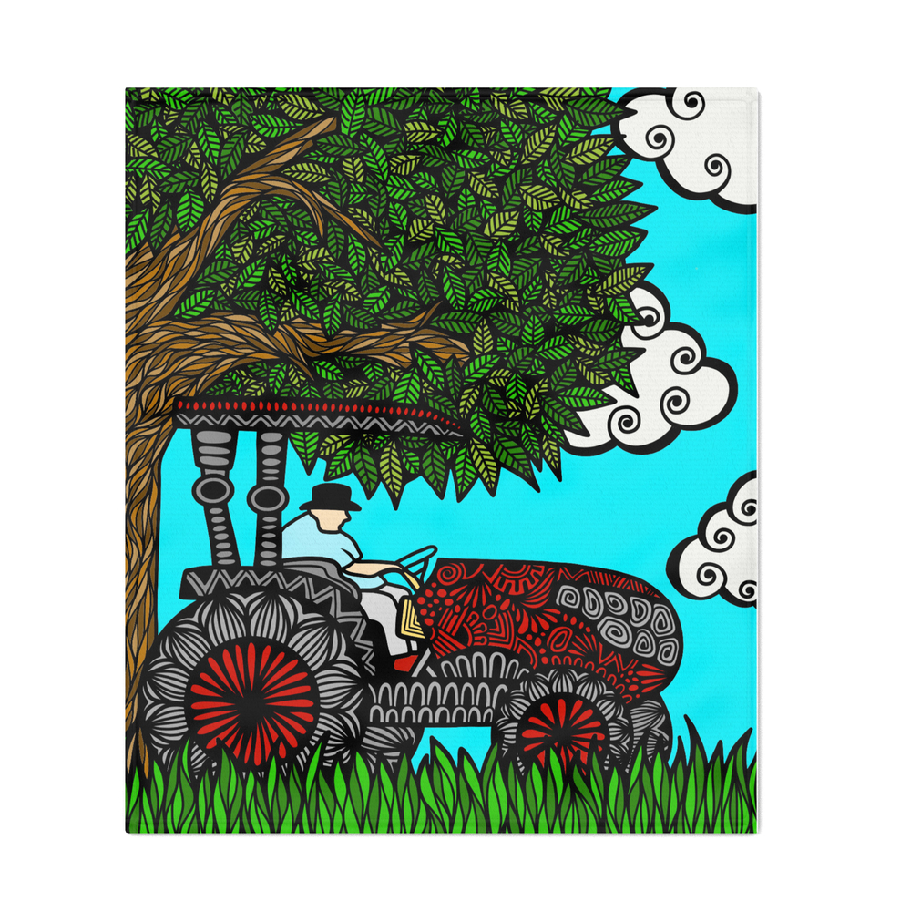 Grandpa_Tractor_Throw_Blanket_by_zenspiredesigns