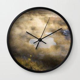 Morning Hot Springs Wall Clock