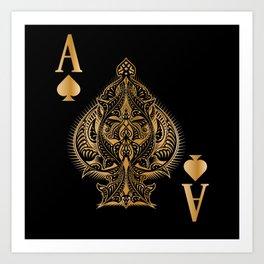 Spades Poker Ace Casino Art Print