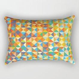 Triangles & Colors Rectangular Pillow