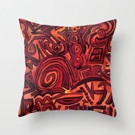Red simbols Throw Pillow