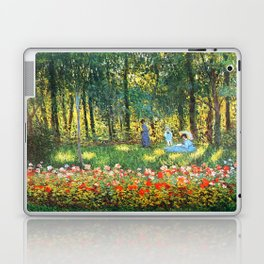 Claude Monet The Artist's Family In The Garden Laptop & iPad Skin
