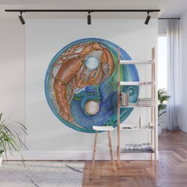 The Lobster and the Dragon, Chaos and Order Yin Yang Wall Mural