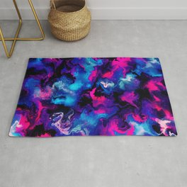 Pink and blue Marble Rug