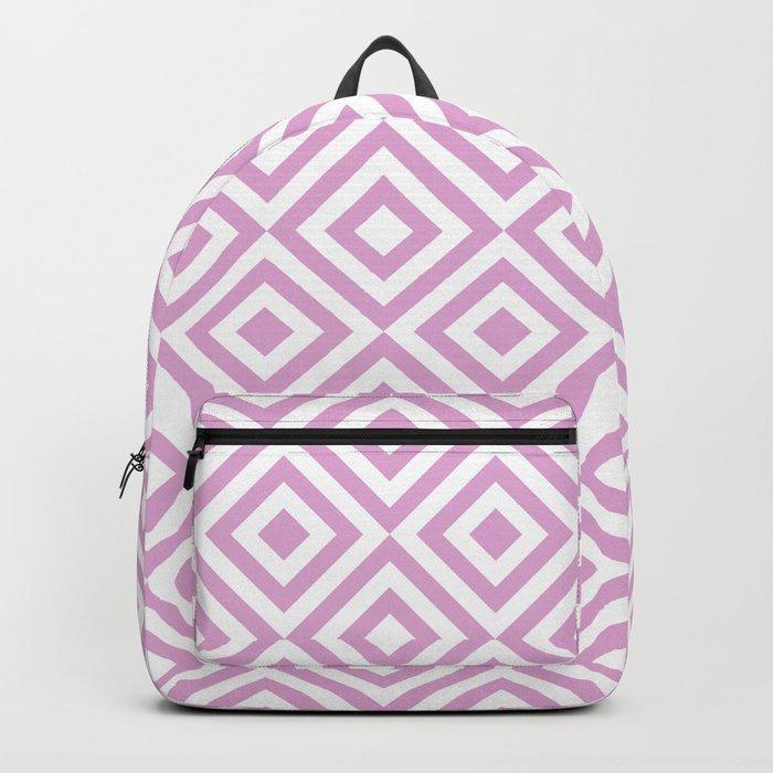 Purple Geometric Diamond Pattern Backpack