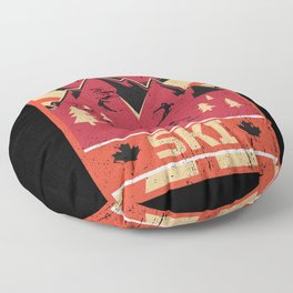 Ski Propaganda | Winter Sports Floor Pillow