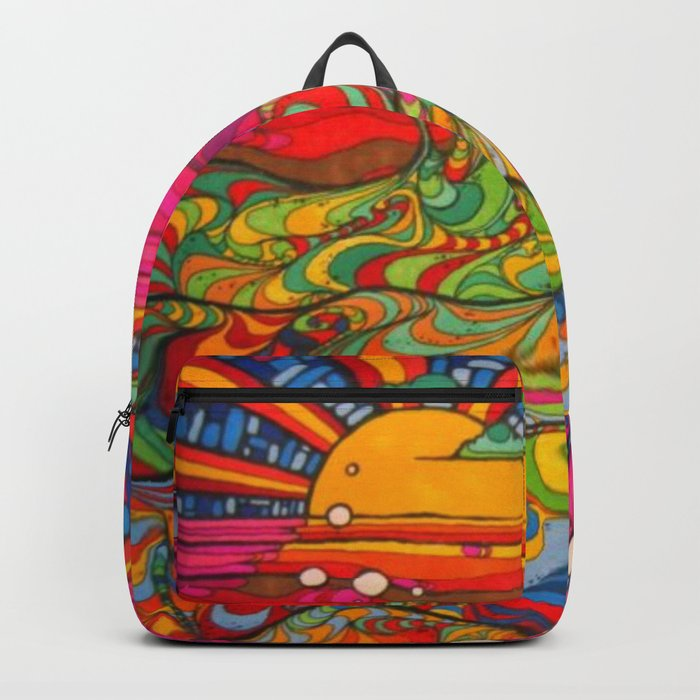 Psychadelic Illustration Backpack