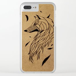 Fall Wolf Clear iPhone Case