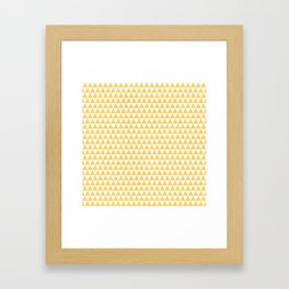 triangles - yellow and white Framed Art Print