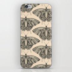 swallowtail butterfly pale peach black iPhone & iPod Skin