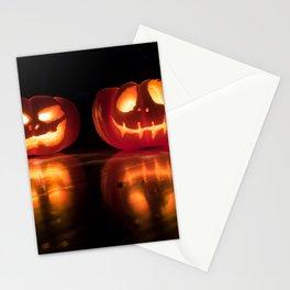 Halloween Jack-o'-lantern Stationery Cards