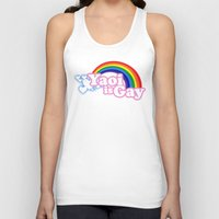 yaoi Tank Tops featuring Yaoi is Gay (High Contrast Version with T-shirts) by merimeaux