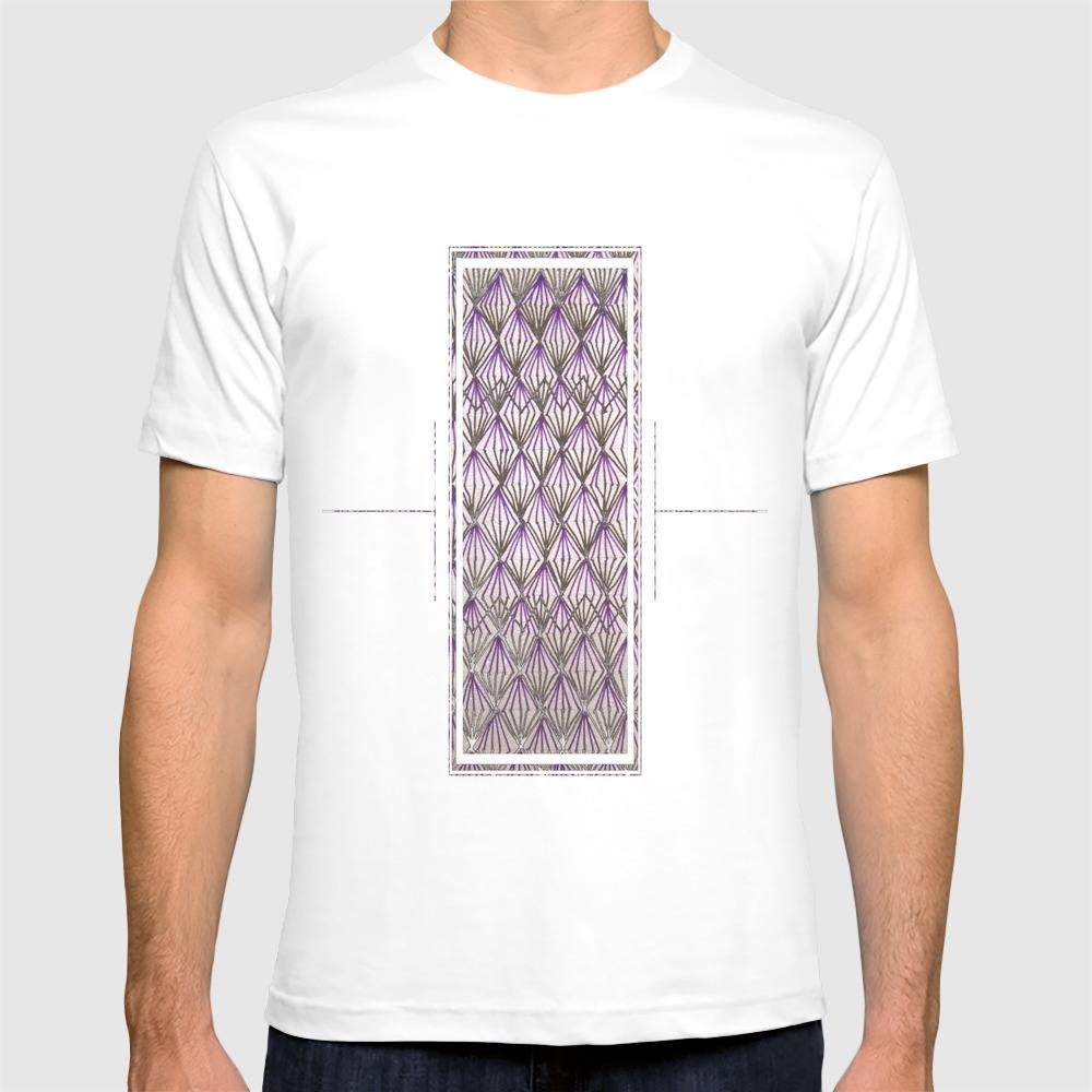Half Purple Diamond T-shirt by Neenaps TSR8314974
