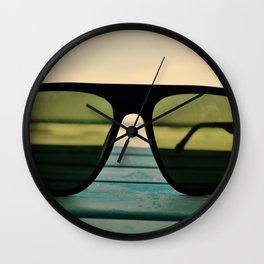 Chillax the Glass Wall Clock