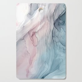 Calming Pastel Flow- Blush, grey and blue Cutting Board