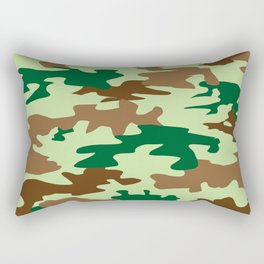 Camouflage Print Pattern - Greens & Browns Rectangular Pillow