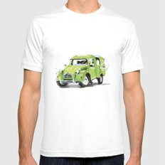 2cv Van Mens Fitted Tee White SMALL