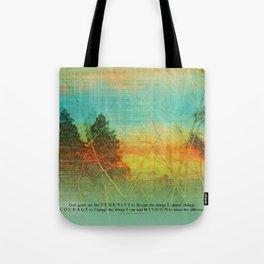 Serenity Prayer Colorful Trees Tote Bag