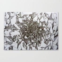 triangular foldings Canvas Print