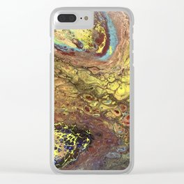 Chemistry Lab -Multicolored Fluid Art Painting Clear iPhone Case