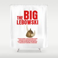 lebowski Shower Curtains featuring BIG LEBOWSKI by FunnyFaceArt