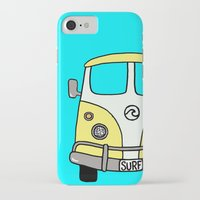 vw bus iPhone & iPod Cases featuring VW Bus Yellow by Cheryl Syminink