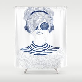 Groove Baby Shower Curtain