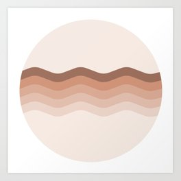 lipstick waves Art Print