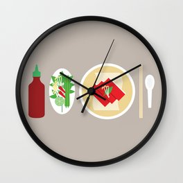 Sriracha Meal Wall Clock