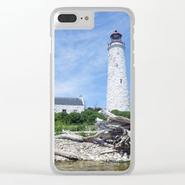 Chantry Island Lighthouse Clear iPhone Case