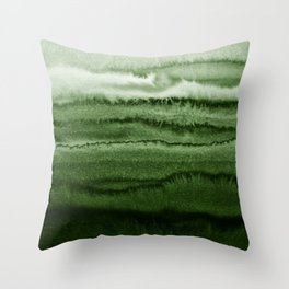 WITHIN THE TIDES FOREST GREEN by Monika Strigel Throw Pillow