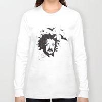 einstein Long Sleeve T-shirts featuring Einstein by KaytiDesigns