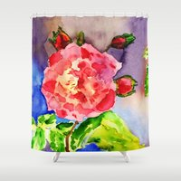 spanish Shower Curtains featuring Spanish princess by Lidia von Essen