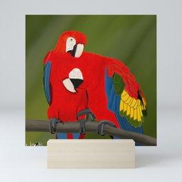 jz.birds Scarlet Macaw Bird Design Mini Art Print