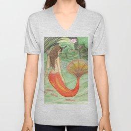 Waterlily Mermaid Unisex V-Neck