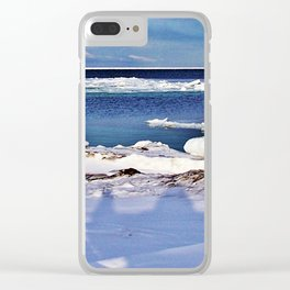 Frozen Selfie by the Sea Clear iPhone Case