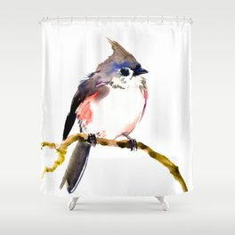 Cute Little Bird, Titmouse Shower Curtain