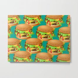 Double Cheeseburgers Metal Print