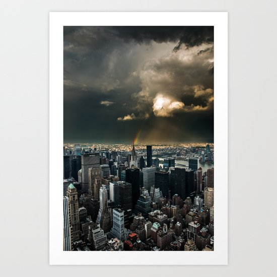 Great Skies over Manhattan Art Print