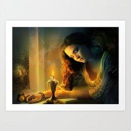 Ghost love story | Cadence of her last breath Art Print