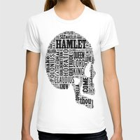 hamlet T-shirts featuring Shakespeare's Hamlet Skull by MollyW