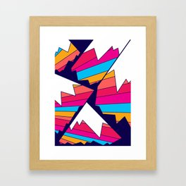 Mountains of many colours Framed Art Print
