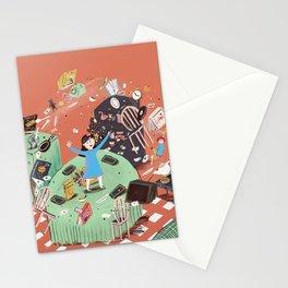 Amazing little girl Stationery Cards