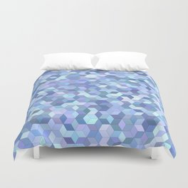 Light blue cube pattern Duvet Cover