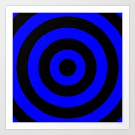 Target (Black & Blue Pattern) Art Print