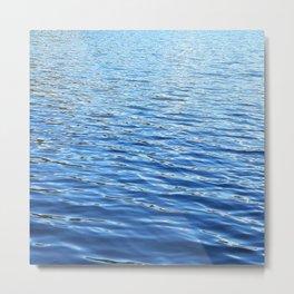 Blue lake water pattern Metal Print