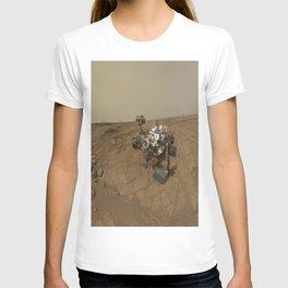 NASA Curiosity Rover's Self Portrait at 'John Klein' Drilling Site in HD T-shirt